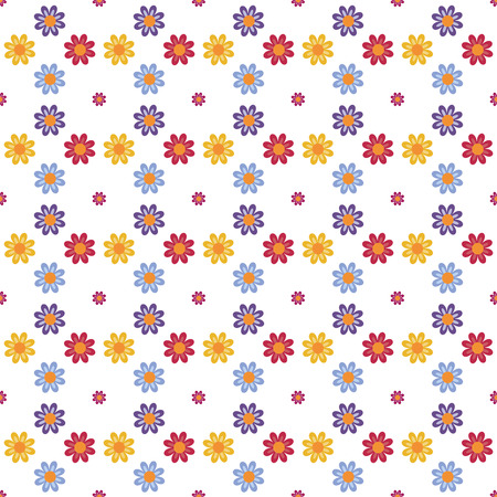 blooms: Fully vector seamless pattern with flowers (blooms)