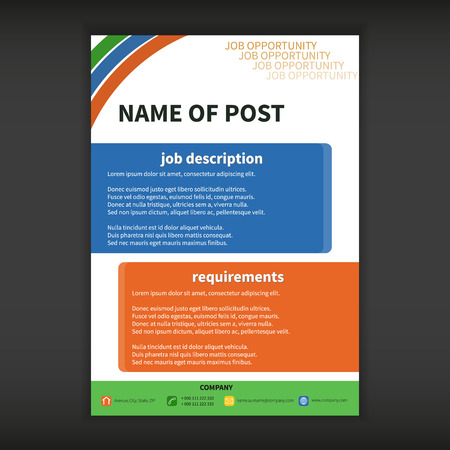 Fully vector job opportunity template