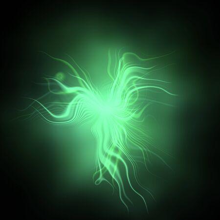 ameba: Ameba abstracto verde con brillo Foto de archivo