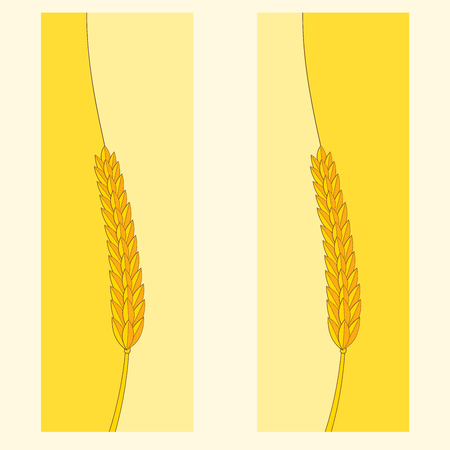 interesting: Fully vector banner with wheat