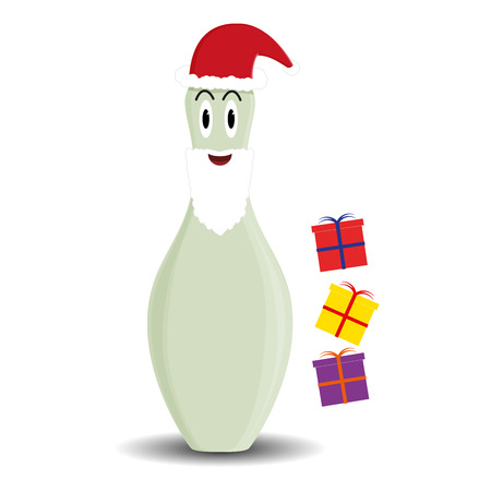 skittle: Fully vector skittle Santa male character with gift boxes for variety use