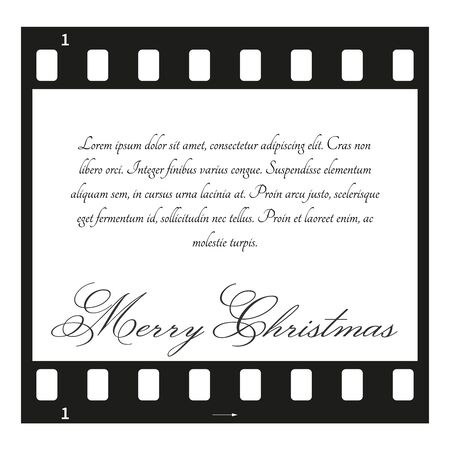 sample: Fully vector Christmas card with filmstrip and sample text