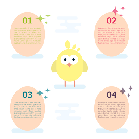 Vector infographic template with chicken and eggs.