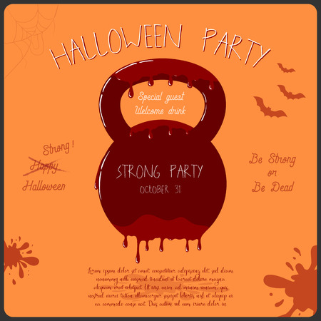 Vector template of halloween party invitation card royalty free vector vector template of halloween party invitation card stopboris Gallery