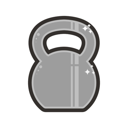 Vector kettlebell lineart icon. Symbol on the white background.