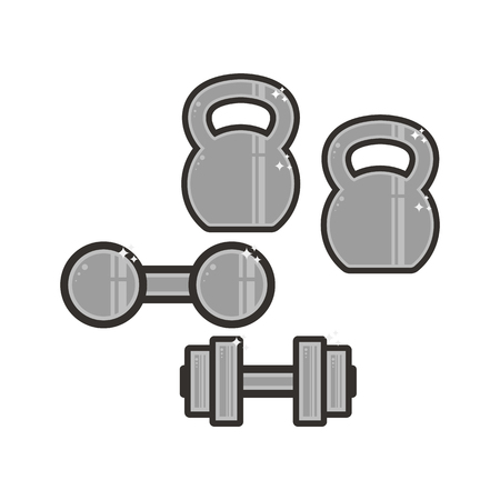 Vector strongman's equipment icon. Symbols on the white background.