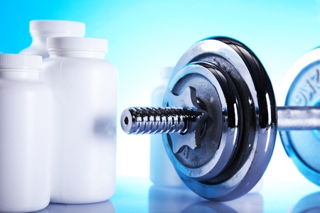dumbell and supplements