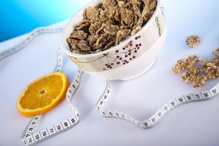 cornflakes and measure tape photo