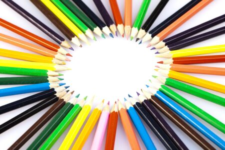 pencils in circle photo