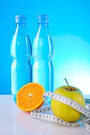 diet and fruits Stock Photo