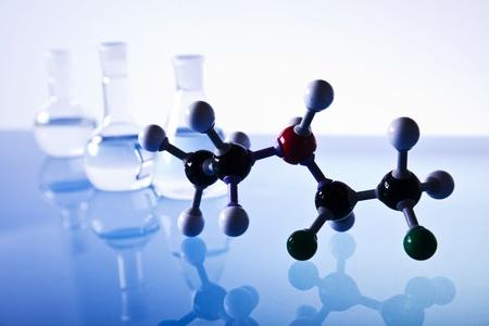 molecules and laboratory glassware