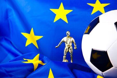 european union flag and football photo