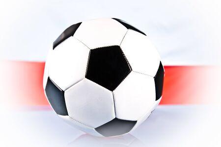 football and polish flag photo