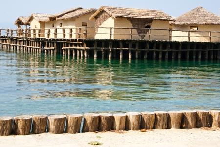 pile dwelling: village on the Ohrid lake