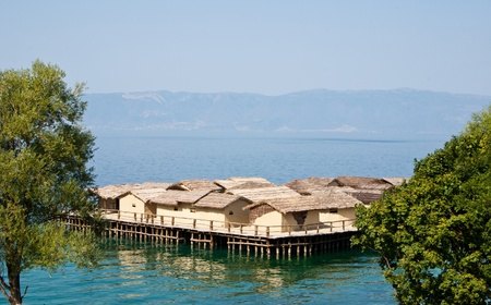 lake dwelling: Ohrid lake