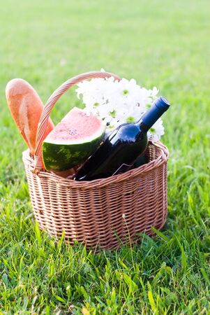 melon field: picnic basket