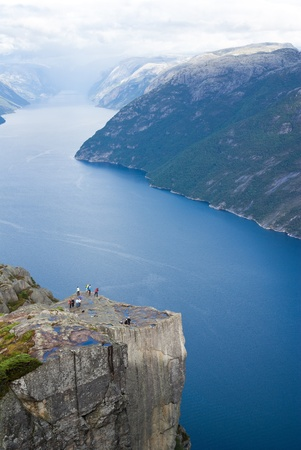 pulpit rok in Norway Stock Photo