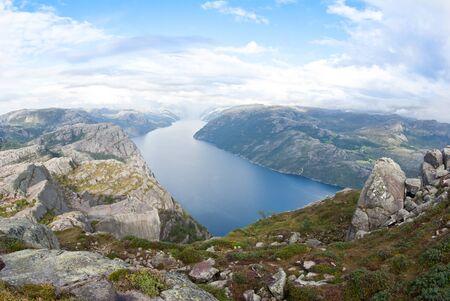 Fjord landskape in Norway photo