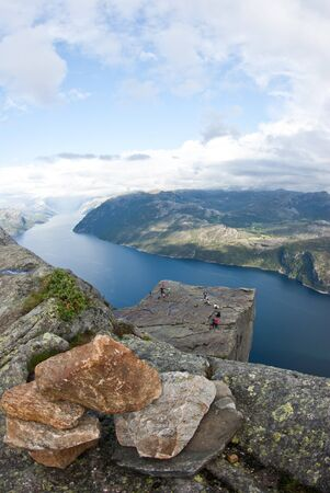 pulpit rock in Norway photo
