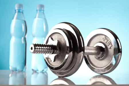 fitness dumbell Stock Photo