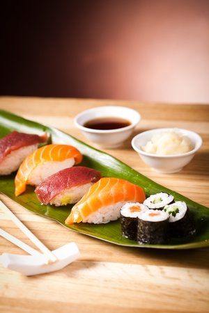 Traditional Japanese food Sushi photo