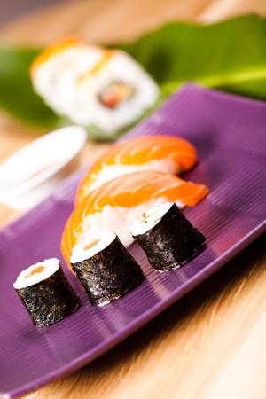 Traditional Japanese food Sushi photo