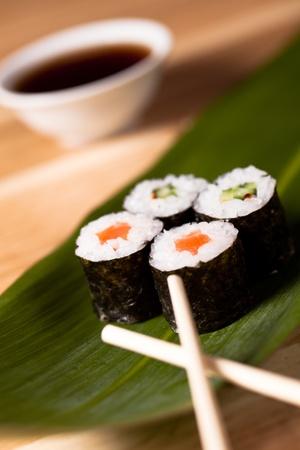 makki: Sushi rolls closeup. makki