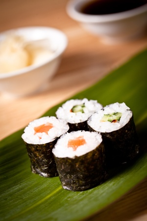Assortment of Japanese Sushi photo