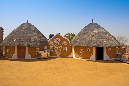 mud house: Indian houses in the village