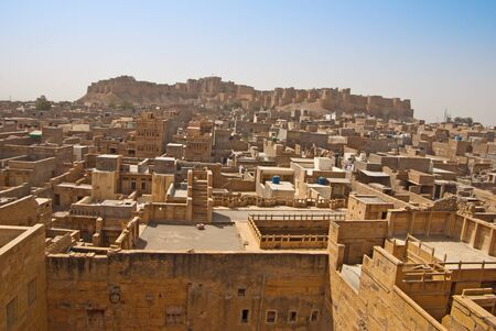 view over Jaisalmer in India photo