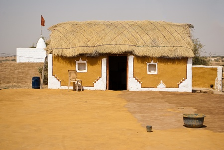 poverty india: Indian house in the village