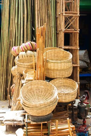 indian wicker handicrafts  photo