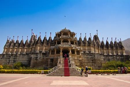 Jain Temple in Ranakpur,India  免版税图像