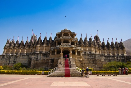 Jain Temple in Ranakpur,India  Stock Photo