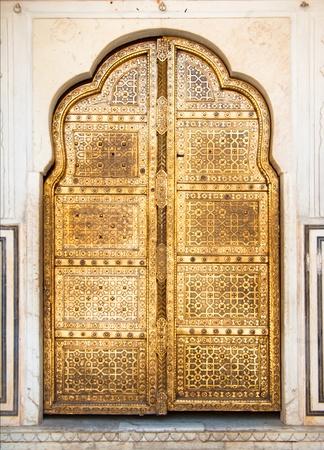 gouden deur Stockfoto
