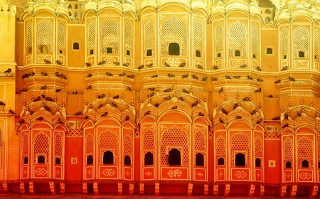 closeup on Hawa Mahal is a palace in Jaipur, India Stock Photo