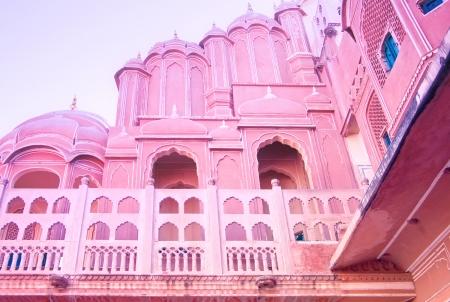 pink city Hawa Mahal palace wall  Stock Photo