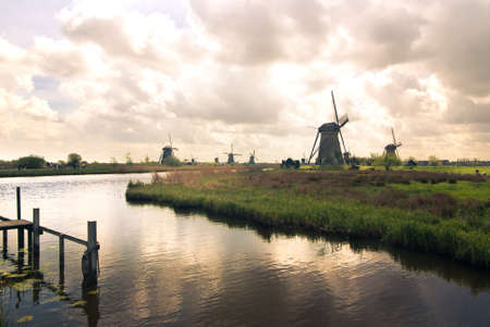dutch evening landscape photo