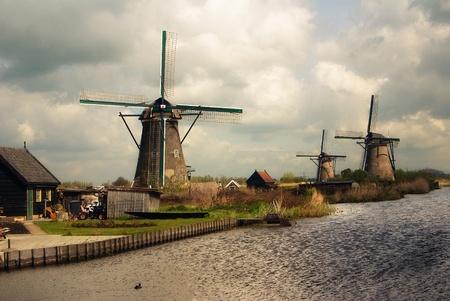 windmills area 免版税图像