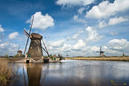 old dutch windmills photo