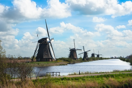 dutch windmills photo