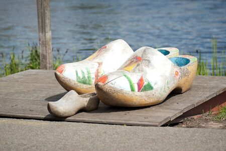 klompen: traditional dutch clogs Stock Photo