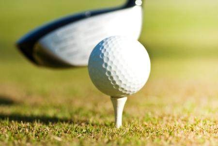 close up of golf ball photo