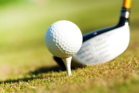 Playing golf  Golf club and ball  Preparing to shot Stock Photo - 13873959