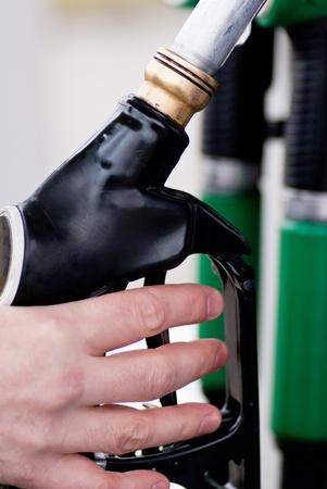 fill up: Fuel pump  Stock Photo