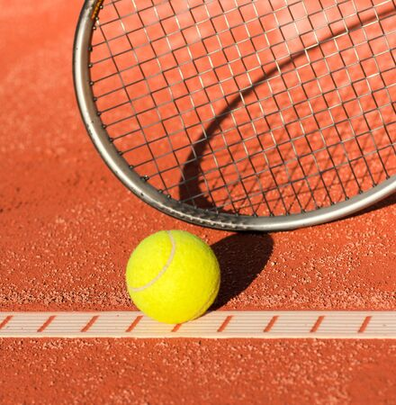 tennis ball on line photo