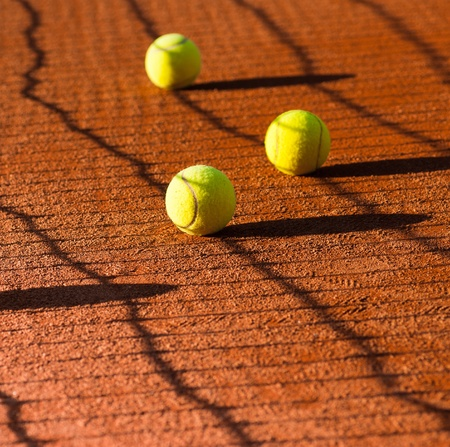 tennis balls abstract photo