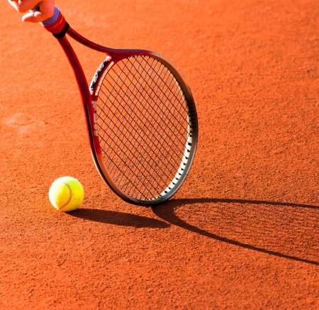 tennis racket: tennis equipment