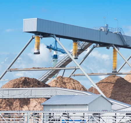 sand piles in cement factory