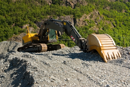 buldozzer at gravel plant photo